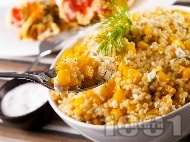 Рецепта Салата с кус кус, сирене и царевица